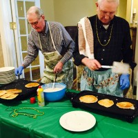 men's pancake supper with lynn and casey