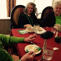 Irish theme dinner with dorothy margaret and joanne