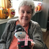 snowmen with frontier hospice linda bell and little snowman