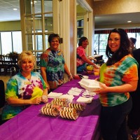 Alzheimers fundraiser with katy and joan womack