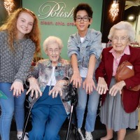 Adopt a grandparent betty and barbara with marco and Sydney