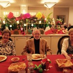 Jane, Bob and Sara enjoying the Mexican theme dinner.