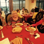 Mable, Jane, and Sue Ann raved about Chef Chris's chicken tortilla stack dinner.