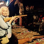 Sheila checking to see if anyone is watching before she shoots that hombre!