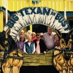 All of us in the wagon at The Big Texan.