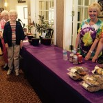 Wanda and Trish passing out cookies and drinks.