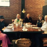 Barbara, Frances, Joan, Harvey, Janie and Darrell waiting for lunch to arrive!