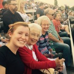 Sydney and her Adopted Grandparent Barbara, and Anne having fun at the game.
