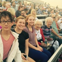 Adopt a grandparent football game with three kids