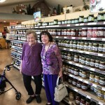 Phyllis Manning and Delores Graham at the Amish Cheese House.