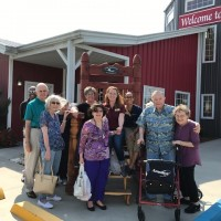 Amish country outing with group outside
