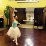 Christina doing her ballet recital number from last May.