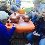 Barbara and Sydney both painted small pumpkins. They have become very close this last year and are good buddies.