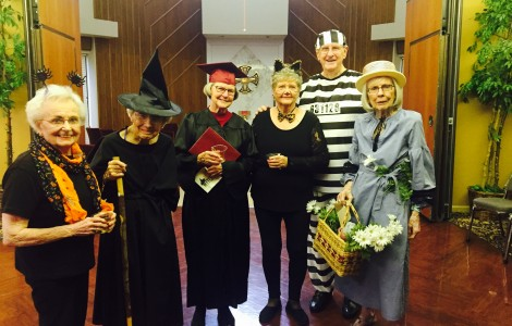 Halloween theme party 2017 group who dressed up cute first pic