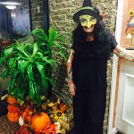 Loyce looks lovely in her tattooed arms and witches costume. She never took the mask off all night...even to eat!!