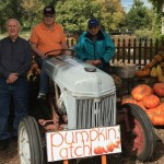 John, Jess, and Leroy in the pumpkin patch!