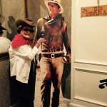 Loyce posing with John Wayne...one of her favorite movie stars she says!