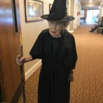 Barbara Keating...who made her witches costume right before the party!