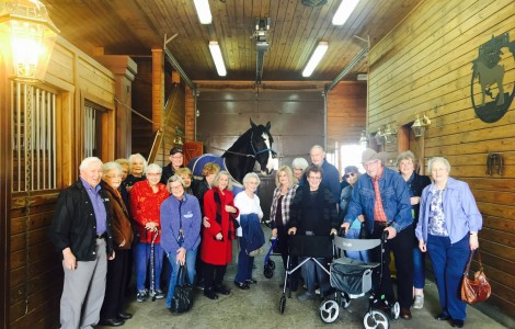 A Visit with the Clydesdales