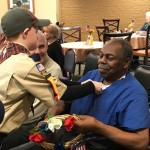 Our newest Inn resident and veteran Mr. Anderson, whose son was present and announced he was proud of his father.
