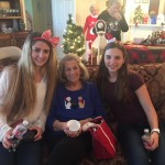 Margaret with her two granddaughters