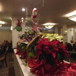 The decorations in the dining room.