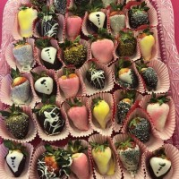Chocolate festival 2018 close up of strawberries