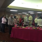 Close to 150 residents and guests in line to fill their plates.