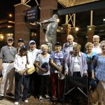 Our group gathered in front of the Mickey Mantle statue...our hometown boy!