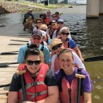 The whole group getting ready to head out on the Oklahoma River.