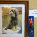Ruff, an oil painting of Paul's dog, another first place winner
