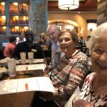 Harvey, Jerry and Anne waiting for their food.