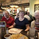 Darrell, Janie and Janice (someone in the restaurant paid for her dinner and we never found out why!)