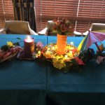 One of the Hawaiian theme party tables.