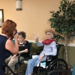 Fun Photos with Humanity Hospice and Martha Roth and other residents, dressing up in costumes.