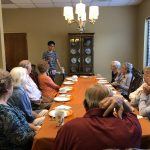 Marco telling the residents about healthy vegan foods and the benefits you receive.
